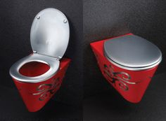 Do not hate the toilet!: Compact Toilet for Small Bathrooms - MiniLoo pink toilet by Neo-Metro Do not hate the toilet!: Compact Toilet for Small Bathrooms - MiniLoo pink toilet by Neo-Metro Toilet For Small Bathroom, Toilet Sink, Small Space Bathroom, Small Bathrooms, Master Bathrooms, Small Spaces, Bathroom Toilets, Bathroom Humor, Minimalist Bathroom