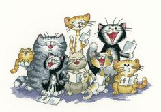 Cross Stitch Cats by Peter Underhill - Cats Rule!