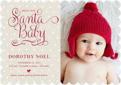 Is Santa bringing you a new bundle of joy this year? An adorable Christmas-themed birth announcement is a fun and seasonal way to welcome your winter baby into the world.