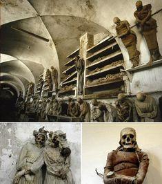 Czech Republic; Capuchin Catacombs – Palermo, Italy;