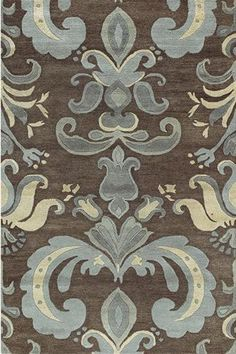 Master bedroom inspiration - blue, brown, and beige - don't think my husband would like the pattern, though ;)