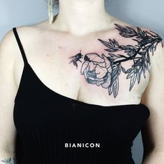 #bianicon #flowers #tattoos #black