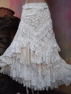 20%OFF wedding skirttattered skirt boho mori girl by wildskin