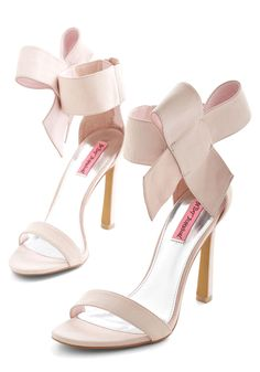 Betsey Johnson Kick it Up a Posh Heel in Petal by Betsey Johnson - Pink, Solid, Bows, Prom, Wedding, Party, Holiday Party, Bridesmaid, Bride, Luxe, Statement, Darling, Best, Variation, High, Leather