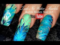 No Water Needed - MINT MANI Diva DIY Drag Marble nail art Tutorial - YouTube