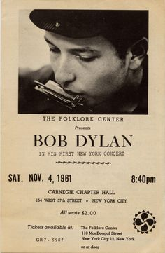 Bob Dylan gig poster. Listening to him on vinyl right now <3