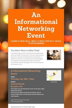 An Informational Networking Event