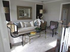petit salon moderne en nuances grises
