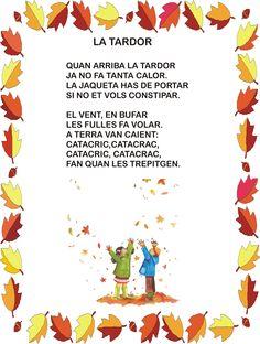 poema de tardor Brain Gym, Spanish Class, Autumn, Fall, Classroom, Seasons, Projects, Crafts, Halloween