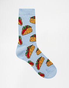 Agrandir ASOS - Socquettes à motif tacos