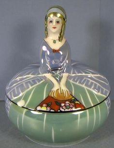 Figural Dresser Doll Luster Ware Noritake China Co Japan Circa 1920 as Is   eBay