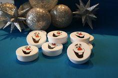 Latinha de plástico Frozen - Olaf Decorações e scrap festa para festa de tema FROZEN. www.convitesefestas.com