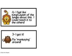Learning Scale for Students(Wild/Safari/Jungle Theme)
