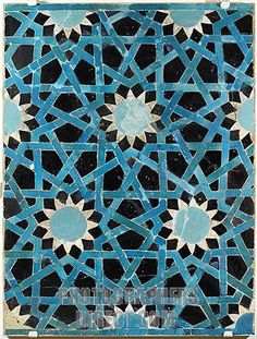 Stock Photography image of Glazed ceramic mosaic , Seljuk , 13th ...