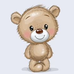 Teddy Bear Sketch, Teddy Bear Drawing, Cute Bear Drawings, Cartoon Drawings, Animal Drawings, Bear Images, Teddy Bear Pictures, Cartoon Mignon, Teddy Bear Tattoos