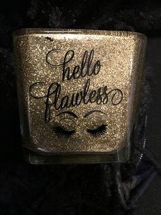 Makeup Brush Case, Makeup Brush Storage, Makeup Organization, Makeup Brushes, Glitter Projects, Glitter Crafts, Glitter Vases, Glitter Cups, Makeup Jars