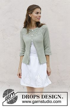 Ravelry: 191-23 Summer Evening Cardigan pattern by DROPS design