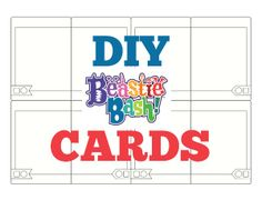 free download - draw your own Beastie Bash! cards #DIY #games #kids