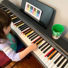 Lila has been VERY interested in learning to play the piano lately — and although I play myself, I had absolutely no idea how to teach someone else to play! Luckily, I saw Deniz's Keyn… Time Activities, Hands On Activities, Infant Activities, Piano Teaching, Well Thought Out, Piano Lessons, Teaching Resources, Montessori, Falling In Love