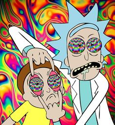Rick and Morty // Trippy // Psychedelic // Drugs - Art ideas Rick Und Morty, Trippy Pictures, Psychedelic Drugs, Trippy Drawings, Trippy Painting, Acid Art, Trippy Wallpaper, Graffiti Wallpaper, Stoner Art