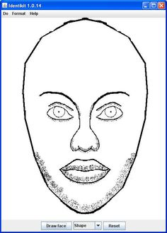 """Identikit free downloadable Java app lets you play with the faces to make your own """"police artist sketch"""""""
