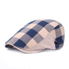 Fasbys Vintage Bone 2017 Retro Cap French Beret for Men Women Hat Plaid Hats  Hats Caps Newsboy Chapeau Ivy Driving 151b43f7995a