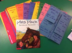 Mrs. Mack by Patricia Polacco - lesson using a foldable to talk about how and why the main character changes throughout the story