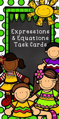 Evaluating, Solving, Simplifying, and Writing Expressions & Equations.  Task cards are always a fun way to review!
