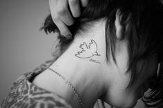 Pablo Picasso Dove of Peace tattoo. Photo by @Trevor Christensen human-canvas