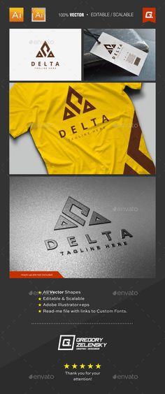 Delta Logo Template — Vector EPS #professional #club