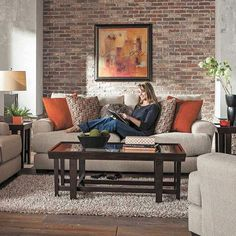 Pile on with your family  and friends and sink into this Ava Cashew Sofa ! Its function matches it fashion with a handy USB  charging port on the inside of each arm. The included accent pillows add a pop  of color pattern and texture! . . . . . #livingroom #livingroomdecor #livingroominspo #livingroominspiration  #interior #homedecor #interior123 #decor #decoration #homedesign #instahome #instadecor #instadesign #interiors #furniture #interiorstyling #interiordecor #decorating…