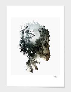 """Skull - Metamorphosis"", Limited Edition Fine Art Print by RIZA PEKER - From $39.00 - Curioos #skull #photomanipulation #digital #art #rizapeker"