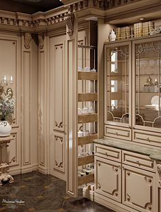 Modenese Gastone Romantica lacquered and patinated Luxury Kitchen Design, Kitchen Room Design, Dream Home Design, Luxury Kitchens, House Design, Luxury Homes Dream Houses, Dream Homes, Mansion Interior, House Blueprints
