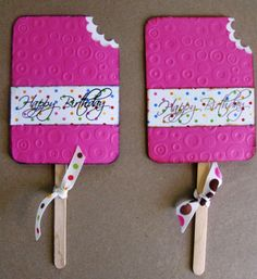 Party Favors Popsicle Lollipop Covers or Gift Card Holders for a Birthday Baby Shower Bridal Wedding Summer Pool Party. $24.99, via Etsy.