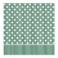 Green with White Dots 4 Shower Curtain > White Dots > MarloDee Designs Shower Curtains