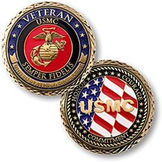 Military coins..
