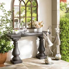 Elle Stonecast Console Table