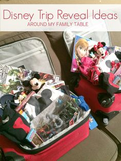 Ideas and tips on how to Reveal a Disney Trip to Your Kids to make the Disney Magic start at home before the trip even begins! Disney World Gifts, Disney Gift, Disneyland Hacks, Disney Trips, Family Fun Day, Family Trips, Disney Reveal, Disney Surprise, Kids Gift Baskets