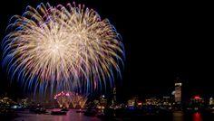 Boston Skyline Photography Print - Boston Fireworks - by DBrimPhoto, $40.00