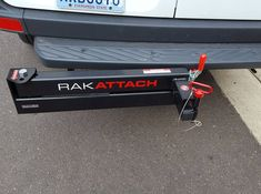 RakAttach swing away hitch receiver. Planning to use it with a bike carrier and still have access to rear cargo doors. Trailer Hitch Accessories, Truck Accessories, Jeep Camping, Van Camping, Vw Lt, Sprinter Conversion, Best Trailers, Overland Trailer, Bus House