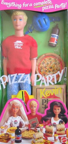 Amazon.com: Barbie - Pizza Party KEVIN Doll with Pizza Hut Pizza & More (1994): Toys & Games