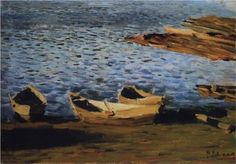 By the Riverside - Isaac Levitan