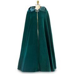 Green full-length cloak