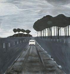 Hrvoje Majer: 'Driving to Toledo',  Oil on canvas, 130x120cm, 2006
