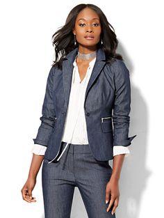 4d4d73e4d74 Shop 7th Avenue Design Studio - One-Button Jacket - Zip Accent - Modern Fit