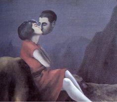"""Buon weekend """"lungo"""" con poesia """"Ho fame della tua bocca"""" Neruda – arte Magritte - POESIE NEL MONDO"""