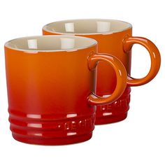 Le Creuset Flame Stoneware Petite 35 Ounce Espresso Mug Set of 2 *** For more information, visit image link. (This is an affiliate link)