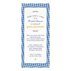 Country Gingham Invitations
