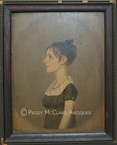 Folk Portrait Artists - Peggy McClard Antiques