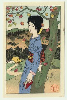 by Yumeji Takehisa: by Yumeji Takehisa